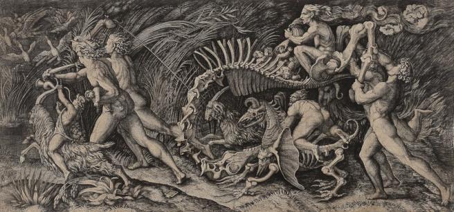 Lo Stregozzo (The Witches' Procession) by Agostino Veneziano Raimondi, 1520s